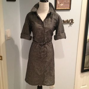 BUNDLED Gray chambray shirt dress from Target