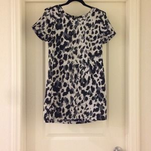 H&M Black and Grey Cheetah Dress with Studs