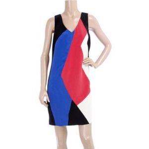 MINT jodi arnold Colorblock Silk Dress, size 4