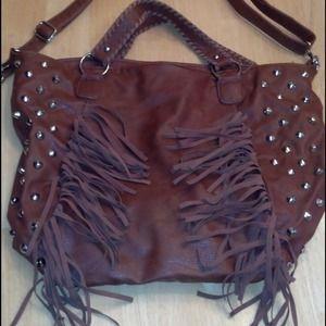 Brown tassel handbag