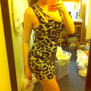 💋Cheetah print body cone dress