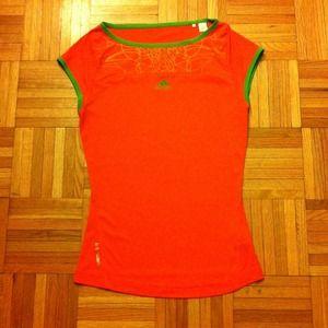 Adidas Orange adiZero Workout Tee