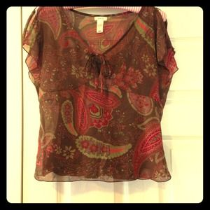 Paisley Bohemian Top with Cami