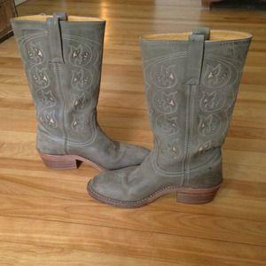 frye boots - green