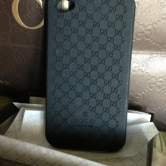 timeless design ad1ce 4f61f iPhone 4S Gucci rubber case . NWT