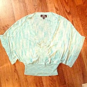 Bebe-flowy turquoise/blue top