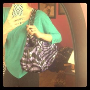 Handbags - Zebra print purse!