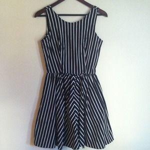 Vintage B&W Pin Stripe Dress