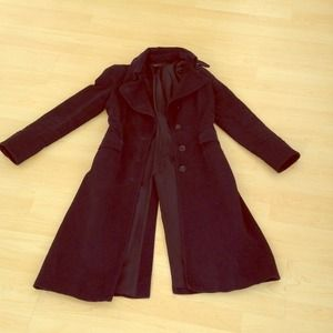 Zara women winter jacket coat, black. Medium