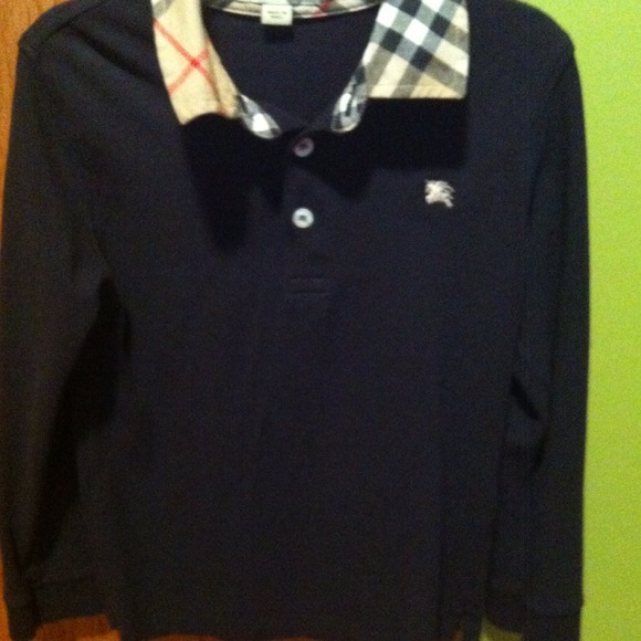 bc81a6c7 Burberry Tops | Authentic Boys Long Sleeve Polo Size 6 Yr | Poshmark