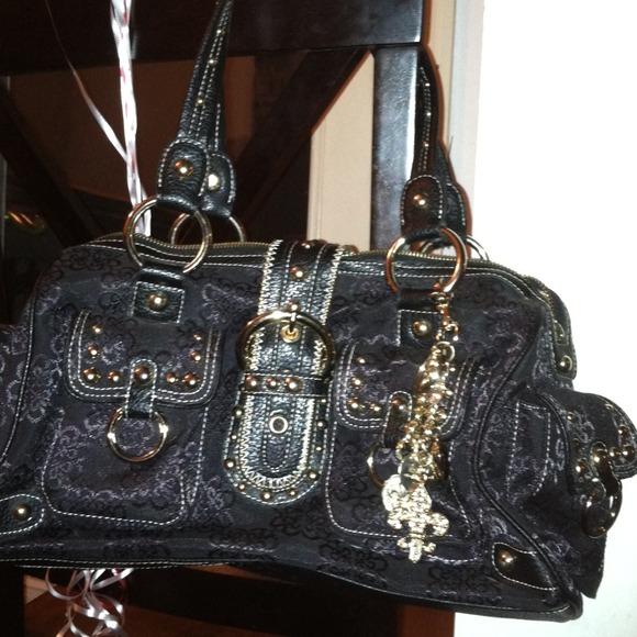d3b28aae13ce Kathy van Zeeland Handbags - Black and gold Kathy van Zeeland purse