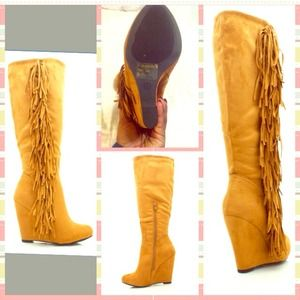 98% off Sancho Boots - Sancho buttery tan fringe boots from ...