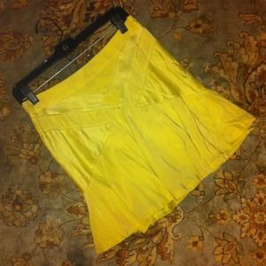 Bundled.  Marc Jacobs chartreuse silk skirt