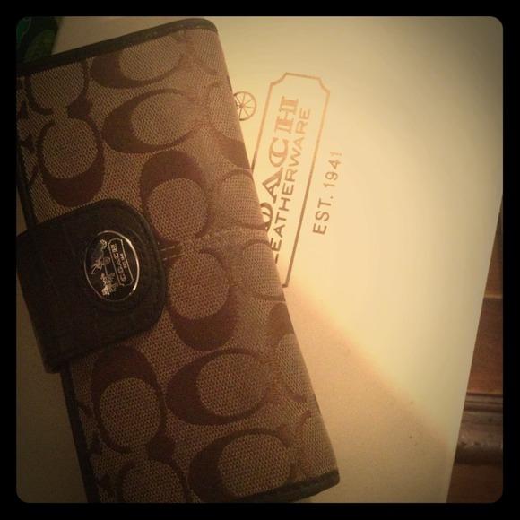Coach Clutches & Wallets - Coach Legacy Signature Slim Envelope Wallet