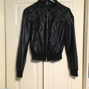 """Leather"" Jacket from Forever 21"
