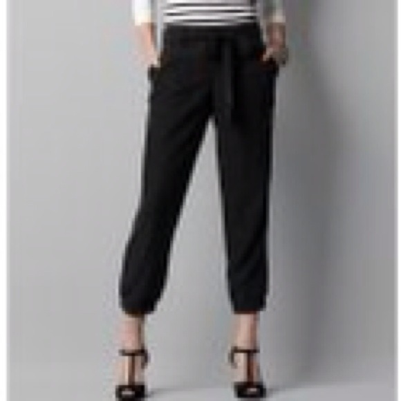 78% off LOFT Pants - LOFT Women's Black Marisa Drapey Modal Crop ...