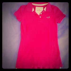 Hi-Lo Polo in Deep Pink