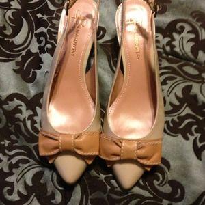 ✂Price cut :B MAKOWSKY tan strapless heels