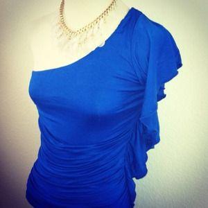 *NWT* Sz Small One Shoulder Ruffle Dress -SEXY! 🔥