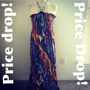 Dresses & Skirts - *NWT* Size 2X animal print colorful maxi dress