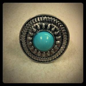 Topaz Silver Fashion Ring - Adjustable