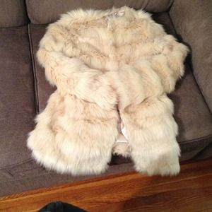 ASOS fur coat wore 5 times