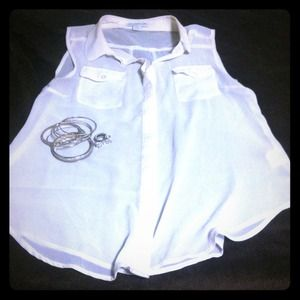 Sheer white shirt size medium