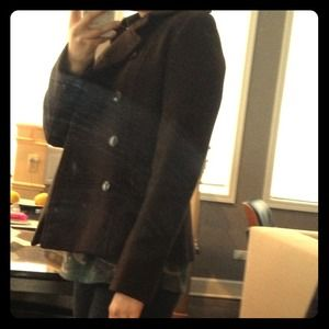 Brown wool military coat