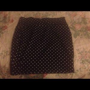 Cute Polka dot skirt.