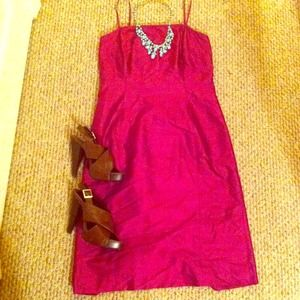 Reduced!!! Magenta dress- 100% silk