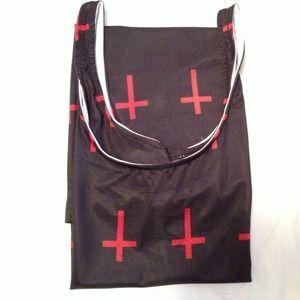 Dresses - Irregular Cross Print Dress + Bundled 1 item
