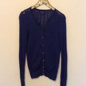GAP Sweaters - GAP lightweight blue cable knit cardigan
