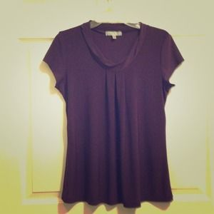 SOLD--$8- Deep Purple Top by Vintage Suzie