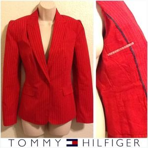 Tommy Hilfiger Jackets & Blazers - Red Pinstriped Blazer