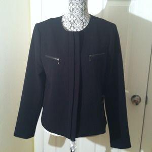 Gap black 4 button jacket/blazer w/ zippers.
