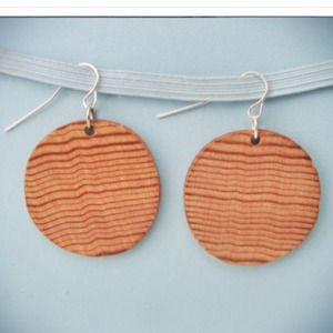 Wooden Circular Earrings
