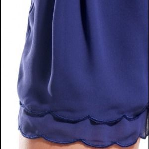 Shop Akira Shorts - 🚫SOLD🚫Scallop Hem Play Shorts in Cobalt
