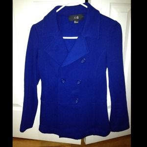 63% off Forever 21 Jackets &amp Blazers - Forever21 baby blue peacoat