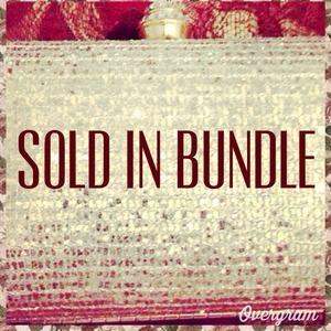 BUNDLE Gold Glitter Clutch and D&B purse.
