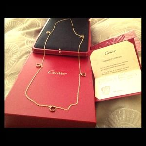 Cartier yellow,rose,white 18k gld necklace