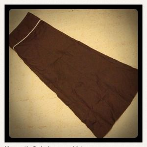 Kenneth Cole Knee length A Line brown skirt
