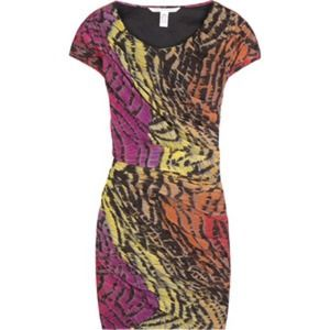 DVF Animal Print Mini Dress