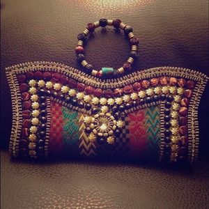 Gorgeous Embroidered hand clutch