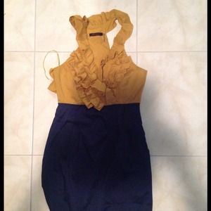 Dresses & Skirts - Navy and Dark mustard yellow color