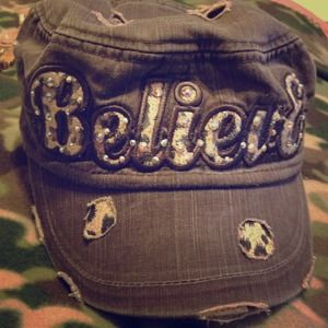 Army style believe hat