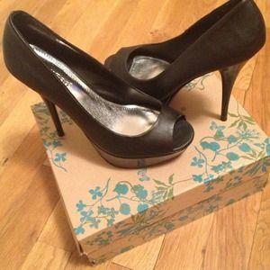 Black open-toe Pumps/Heels Size 8