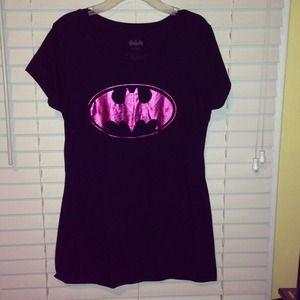 Graphic tee--hot pink batman