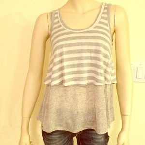 New Grey striped top size S/M/L