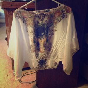 Sheer short sleeve shirt