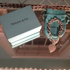 Authentic silver Tiffany & Co heart tag bracelet